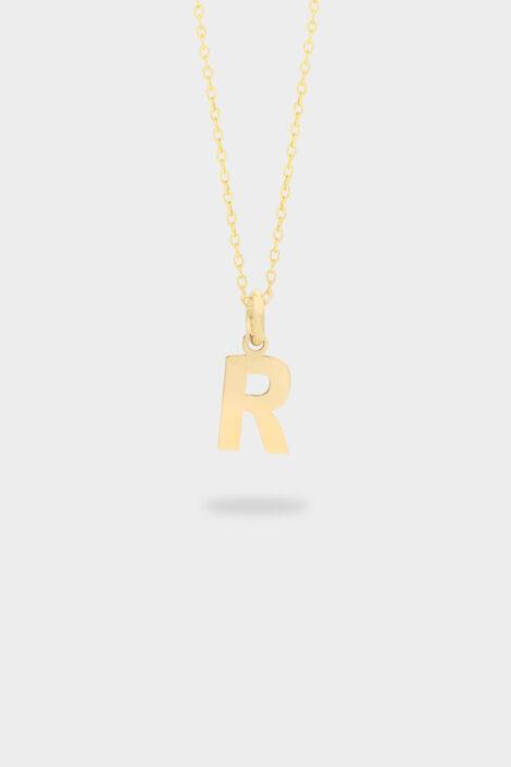 Sarı Altın R Harfi Kolye